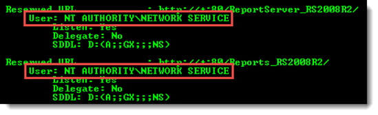 thumbnail image 2 of blog post titled Reporting Services: Error creating HTTP endpoint - Access is Denied