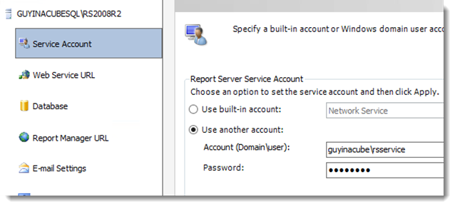 thumbnail image 3 of blog post titled Reporting Services: Error creating HTTP endpoint - Access is Denied