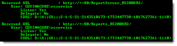 thumbnail image 5 of blog post titled Reporting Services: Error creating HTTP endpoint - Access is Denied